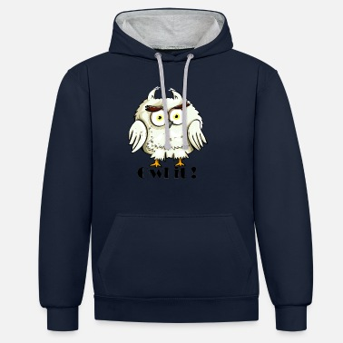 Owl it animals gift idea - Unisex Contrast Hoodie