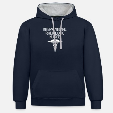 Intervention Interventional Radiologic Nurse Caduceus - Unisex Contrast Hoodie