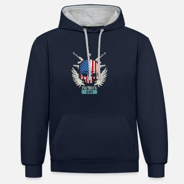Patriot Patriots USA Patriots Day - Unisex Contrast Hoodie