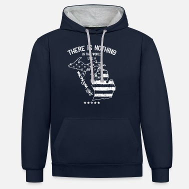 Michigan USA: Ingenting i som en Michigan State Girl Gift - Kontrast hoodie unisex