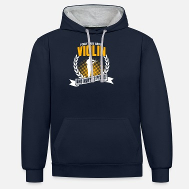 Fiddlestick Funny Violin Tea Anniversary Gift - Unisex Contrast Hoodie