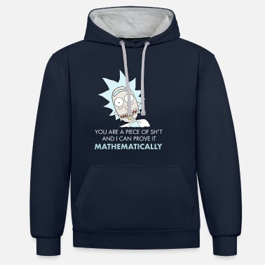 And Rick And Morty Mathematical Proof Quote - Unisex kontrast hættetrøje