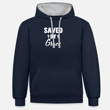 Evangelical Saved by Grace Religion Belief - Unisex Contrast Hoodie