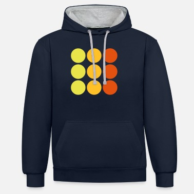 Pattern dots - Unisex Contrast Hoodie