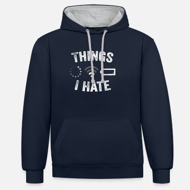Video Buffer Things I Hate Funny Video Gamer Gift Programmer - Unisex Contrast Hoodie
