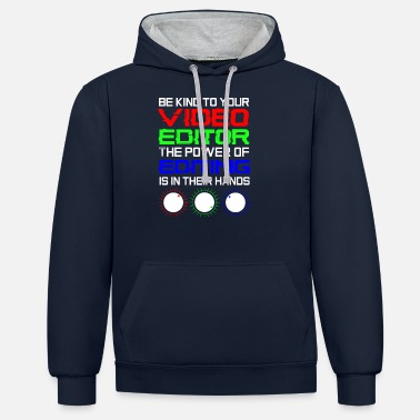 Video Video Editor cut videos - Unisex Contrast Hoodie