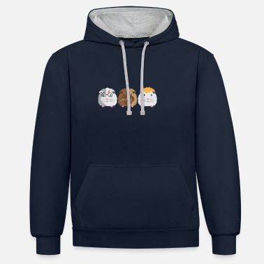Guinea Pig Three little Guinea pigs - Unisex Contrast Hoodie