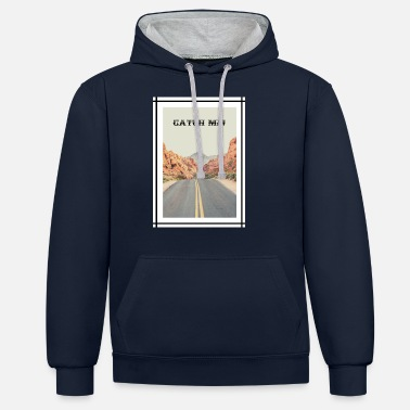 Road in California - Catch me! - Unisex Contrast Hoodie