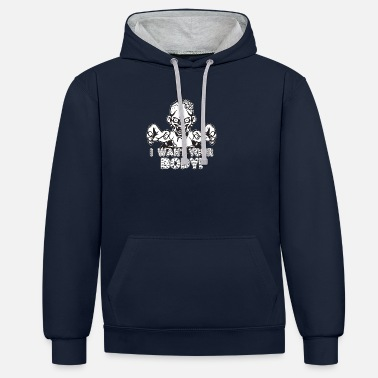 I want your body Halloween - Unisex Contrast Hoodie