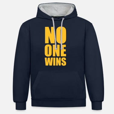 Religion no one wins - Unisex Contrast Hoodie