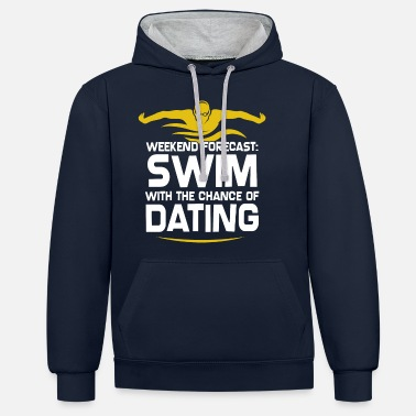 Swimming- Shirt Swimming Pool Pool Water Gift - Unisex Contrast Hoodie