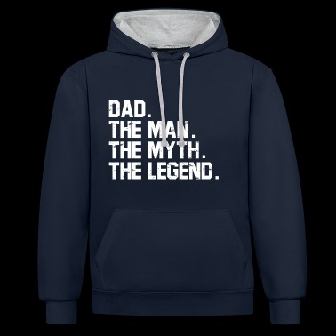 Gifts for Dads. Best Dad. Best Seller. Super Dad. - Contrast Colour Hoodie