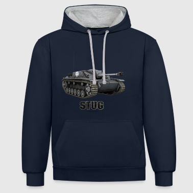 World of Tanks Stug Men Hoodie - Kontrast-hettegenser