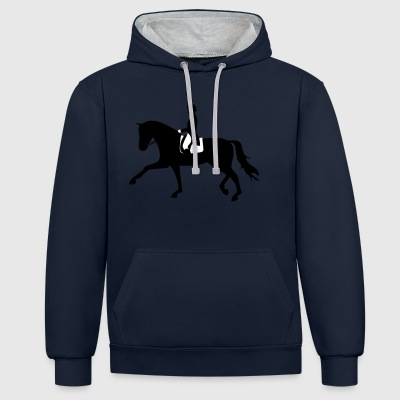 2541614 129634992 cheval de dressage - Sweat-shirt contraste