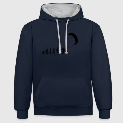 Evolution Kite-Surfing - Kontrast-Hoodie