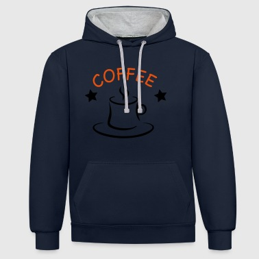 2541614 15813232 café - Sweat-shirt contraste