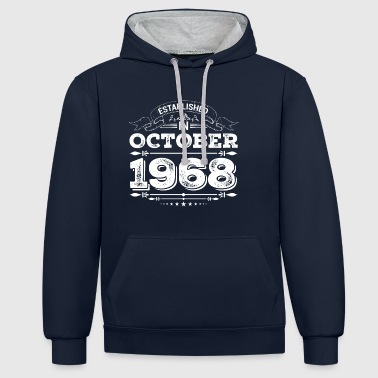 Established in October 1968 - Contrast Colour Hoodie