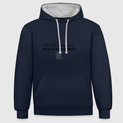 My stomach hurt - Contrast Colour Hoodie