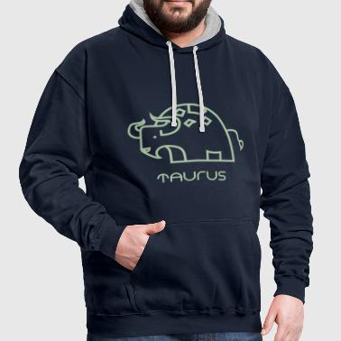 Star sign Taurus Taurus May June gift animal - Contrast Colour Hoodie