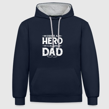 FAR PAPA DAD FAR: HERO DADDY GIFT - Kontrast-hettegenser
