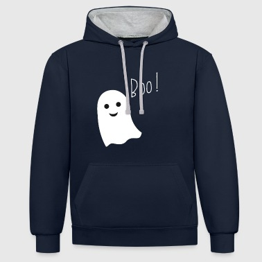 Ghost boo - Contrast Colour Hoodie