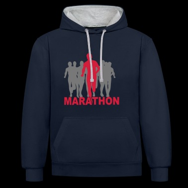 2541614 15946619 marathon1 - Sweat-shirt contraste