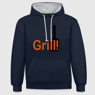 Grill 2541614 113706386 - Contrast Colour Hoodie