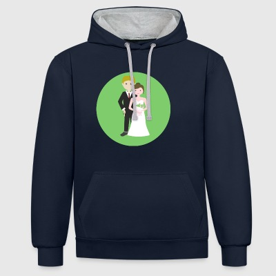 wedding - Contrast Colour Hoodie