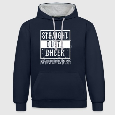 Straight Outta Cheer - Contrast Colour Hoodie