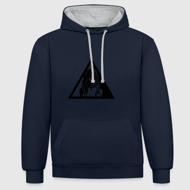TRINITY - Contrast Colour Hoodie