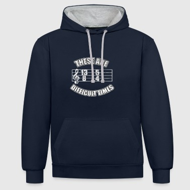 beats de musique notes vintage cadeau instrument - Sweat-shirt contraste