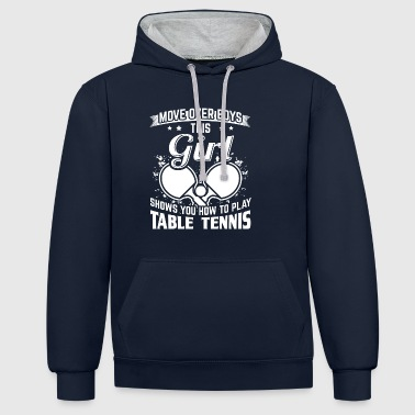 Table tennis MOVEOVER - Contrast Colour Hoodie