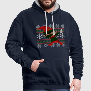 Dabbing Elf Ugly Shirt - Contrast Colour Hoodie