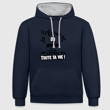 Le virus du Wing chun cadeau - Sweat-shirt contraste