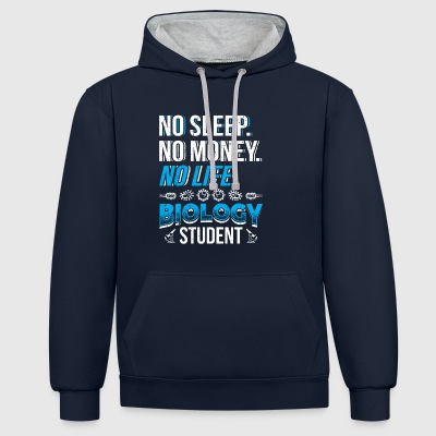 Funny Biology Shirt Biology Student - Contrast Colour Hoodie