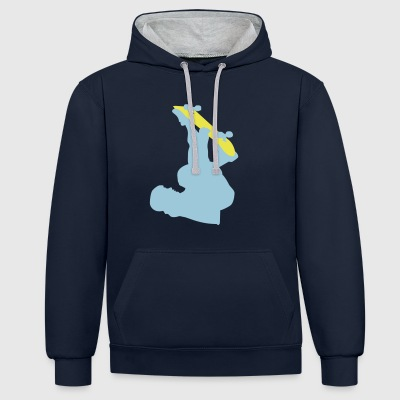 2541614 10605045 Skateboard - Contrast Colour Hoodie