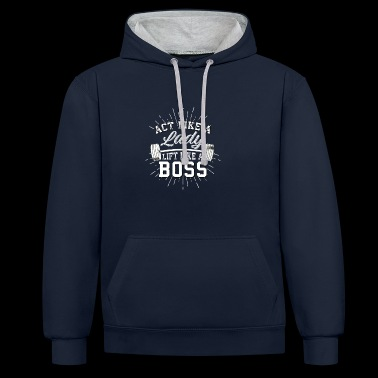 Girl boss - Contrast Colour Hoodie