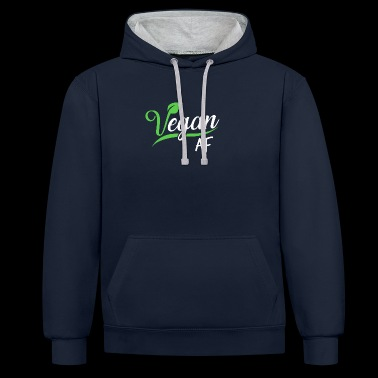 Vegan AF vegan vegetarian design vegetable - Contrast Colour Hoodie
