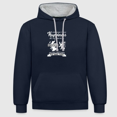 Froh Scotland gift William Edinburgh Wallace - Contrast Colour Hoodie