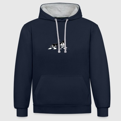 Chess - Chess figure - Contrast Colour Hoodie