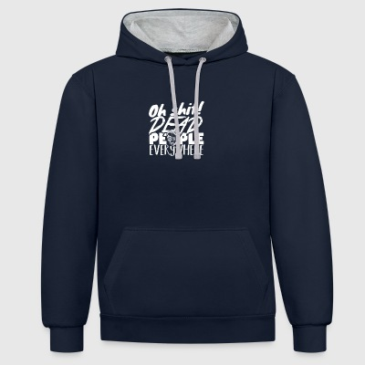 Halloween - October 31 - Horror - Contrast Colour Hoodie