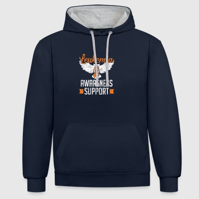 Leukemia in awareness disease - Contrast Colour Hoodie