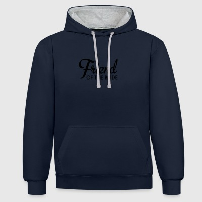 friend of the bride - Contrast Colour Hoodie