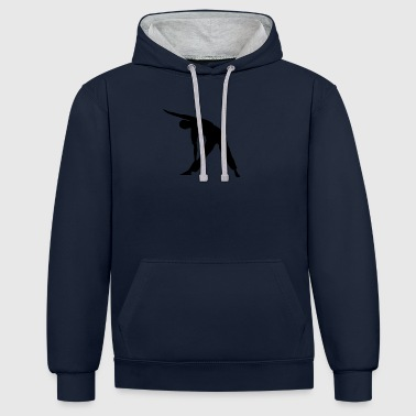 Yoga exercise - Contrast Colour Hoodie