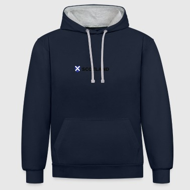 National Flag Of Scotland - Contrast Colour Hoodie