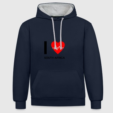 I Love South Africa - I love South Africa - Contrast Colour Hoodie