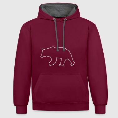 bear - brown bear - hunting - hunter - Contrast Colour Hoodie
