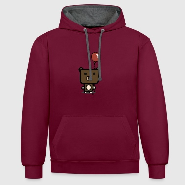 cute bear - Contrast Colour Hoodie