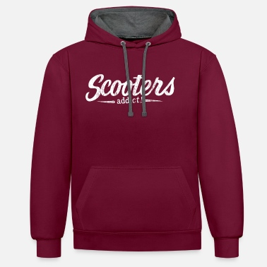 Scooter Scooters addict! - Contrast Colour Hoodie