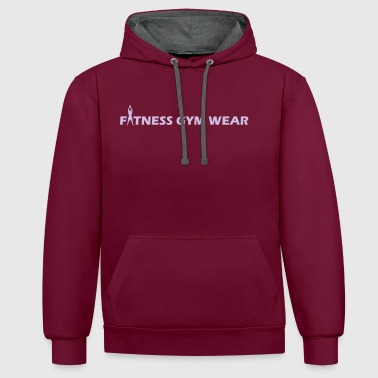 Fitness Gym Wear - Contrast Colour Hoodie